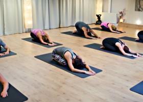 yoga studio mica yoga nootdorp mensen doen yoga in zaal Wereld van Yoga