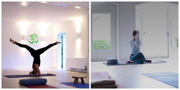 yoga mindfulness midweek zeeland domburg yogaruimte vrouw doet yoga