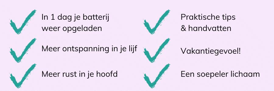 yoga retreat 1 dag nederland voordelen