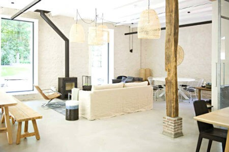 yoga mindfulness aan de hei woonkamer