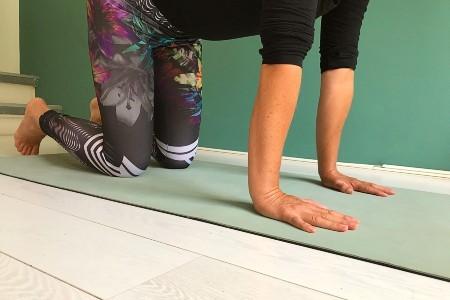 polsen stretches in yoga gewone hand