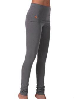 yogakleding wat is goede yoga broek grijs soepel lang omslagband