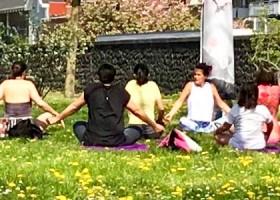 Yoga in de Kas buiten Wereld van Yoga