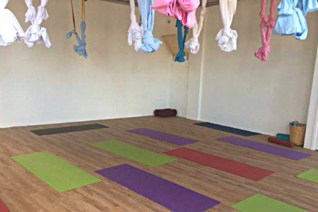 wat is vinyasa yoga studio kompassie matten in zaal