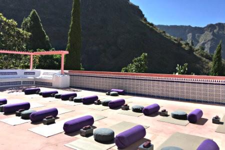 yoga vakantie tenerife terras yogamatten