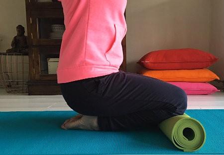 yoga bij koude voeten wreef oprekken toega